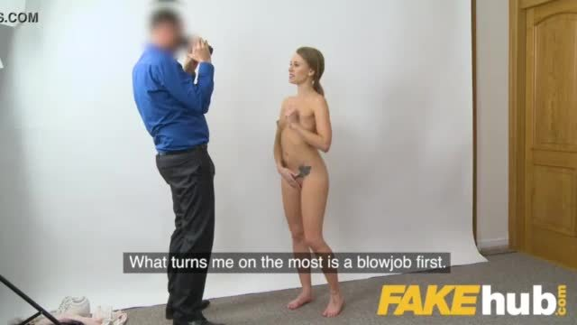 Slender blonde fucked on a couch