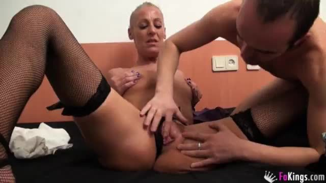 Blonde chick steffie is being fucked in the ass