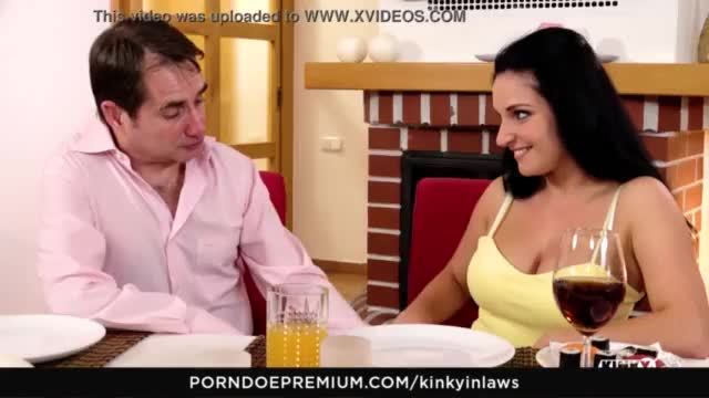 Sexy latina jasmine caro getting banged on the kitchen table