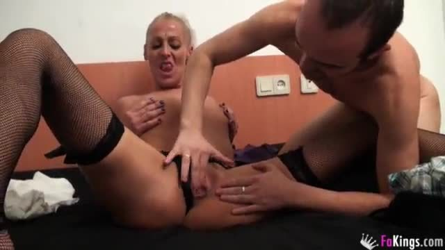 Awesome blondie roxie is being fucked in the ass