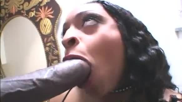 Nasty asian slut lucky starr slammed hard by a big black cock