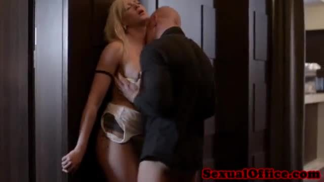 Charity sucking him off in the office