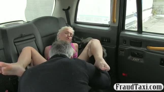 Busty babe anal fucked by fake driver