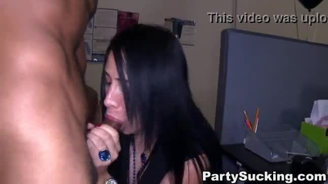 Real euro bachelorette sucks dick at club party