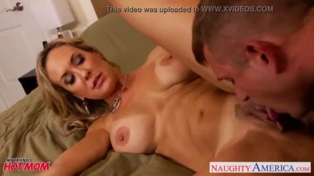 Busty blonde mom brandi love suck and fuck cock