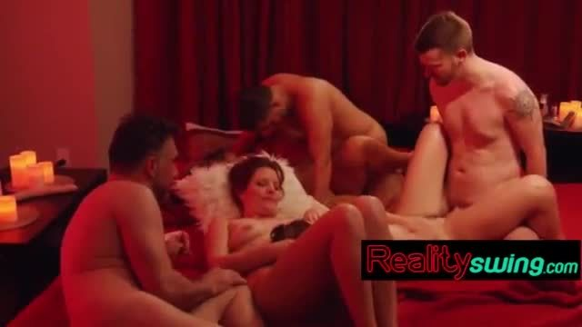 Sweet babes having group sex on camera