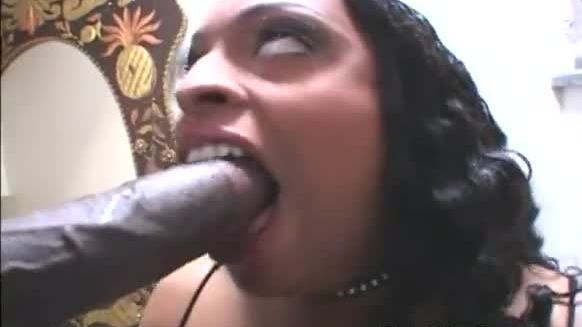 Mena gets her asian pussy fucked by a black cock